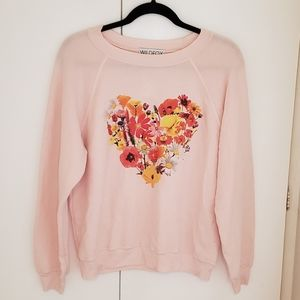 Wildfox Womens pink long sleeve flower pattern